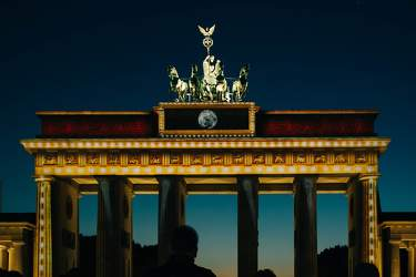 OKT 2015: Festival of Lights, Brandenburger Tor, Quadriga, Mitte, Pariser Platz