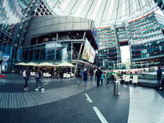 APR 2017: Sony Center, Mitte, Potsdamer Platz